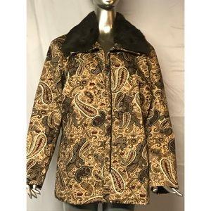 Elana by Tanner Paisley Coat w/ Rabbit Fur Collar